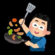 料理をする様子